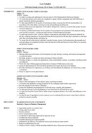 Executive Pastry Chef Resume Samples | Velvet Jobs