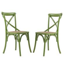x back dining chairs. Green Elm Wood Vintage-Style Dining Chairs (Set Of Two). X Back