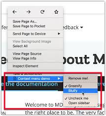 Context Menu Items Mozilla Mdn