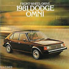 Details About 1981 Dodge Omni Dealer Sales Brochure Catalog With Color Chart Euro Sedan 81