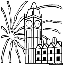 Small Picture New Year Eve Online Coloring Pages Page 1