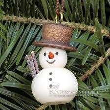 Natur Schneemann Christbaumschmuck Weihnachtsbaumschmuck