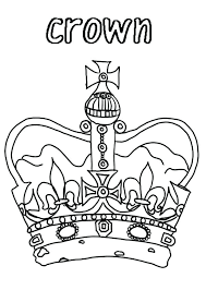 Family Coloring Page Princess Crown For Royal Family Coloring Page