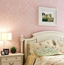 Pink Wallpaper For Bedroom Luxury Victorian Vintage Light Pink Damask Nonwoven Wallpaper