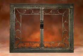 fireplace screen with scroll border