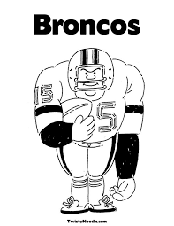 Small Picture broncos coloring page