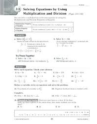inverse operations worksheets printable solving equations