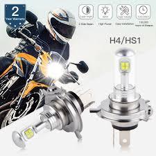 Plug Play 30w 3200lm Mec Led H4 Motorcycle Headlight Hi Low Beam Hs1 P43t Car Auto Scooter Light 6000k White 12 24v