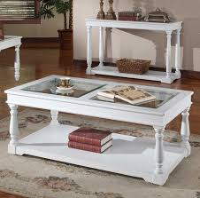 awesome ideas white wood coffee table and with tempered glass top home interior tables rectangular farm