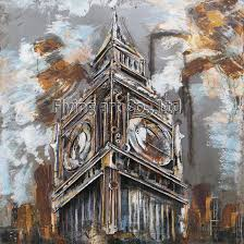 3d metal painting for the big ben in london on big ben metal wall art with china 3d metal painting for the big ben in london china wall art