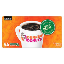 Dunkin donuts catering offers box o' joe which comes complete with enough coffee for 10 and it even includes cups, lids, sweeteners, cream and stir sticks. Dunkin Donuts Original Blend Decaf K Cup Pods 54 Ct Bjs Wholesale Club