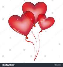 Heart Shape Design Red Balloons Set Heart Shape Design Stock Vector Royalty