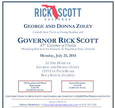 political fundraiser invite this rick scott fundraiser could become a problem crowley