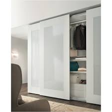 Frosted Glass Interior Closet Doors Bedroom Nice White Wardrobe ...