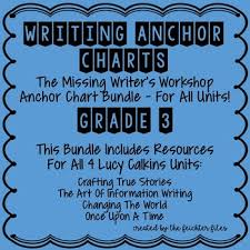 Lucy Calkins Writing Workshop Anchor Charts 3rd Grade All Units Wuos Bundle