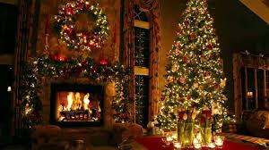 tree fireplace backdrop quiet peaceful