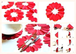 Paper Napkin Folding Flower Paper Lotus Napkin Instructions Lotus Flower Napkin Folding