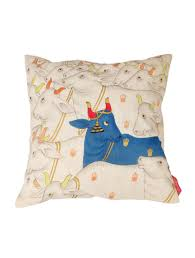 Buy Blue & White Kamdhenu Cushion Cover Online