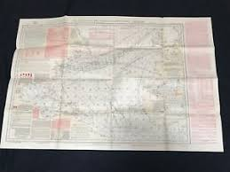 Details About 1925 Pilot Chart Of The North Atlantic Ocean Lieut M F Maury U S Navy