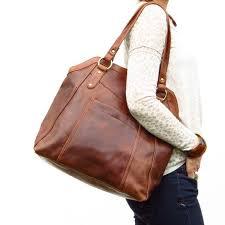 modern large brown leather handbag tote brown leather handbags