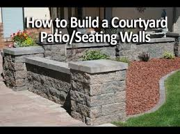 how to build a patio enclosure with seating walls
