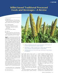 pdf millet based traditional processed foods and beverages a review