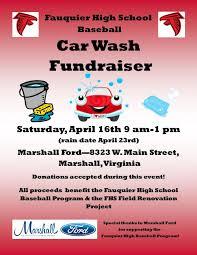 Fauquier High Baseball Car Wash Fundraiser Fauquier Now