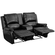 allure furniture. Amazoncom Flash Furniture Allure Series 2Seat Reclining Pillow Back Black Leather Theater Seating Unit With Cup Holders Kitchen U0026 Dining E