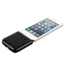 Solar Power Portable Battery Charger 1800mAh for Apple Devices - Black