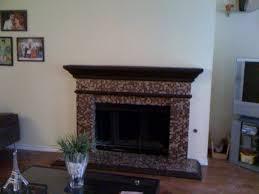 aura metallic aventurine glass mosaic tile blend fireplace surround