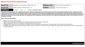 Production Planner Resume Cover Letter Cv Letters Resumes
