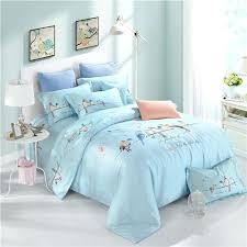 pale blue duvet cover king size light blue cartoon birds pattern soft bedding sets queen king