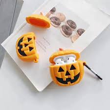 Cute <b>Cartoon</b> Pumpkin AirPods 1 2 <b>Case Halloween</b> Personality ...