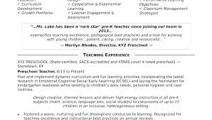 Teaching Resume Templates Beauteous Elementary Education Resume Teacher Template Free Teaching Word New