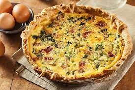 easy bacon cheese and spinach quiche