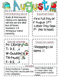 Teachers Newsletter Templates Elementary Classroom Newsletter Template Free 2 Resume