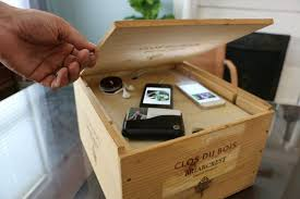 Wine Crate Gadget Charging Station