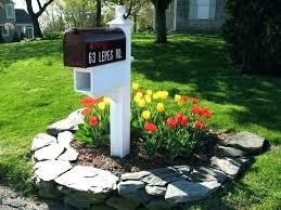 landscaping around mailbox post. Mailbox Landscaping Around Post