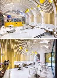 1221 Design Modern Cafe Wall Covered Fins Interior Design 120619 1221 03
