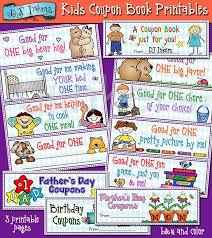 Kids Coupons Book Printable Coupons For Kids Kid Gifts For