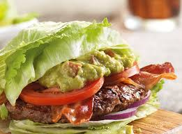 red robin logo lettuce wrapped burger with guacamole and bacon lettuce wrapped burger with guacamole and bacon
