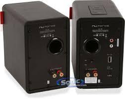 speakers rca. product name: nuforce s3-bt black (pair of bookshelf speakers) speakers rca