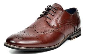 com bruno marc men s florence 1 dark brown leather lined dress oxfords shoes 12 m us oxfords