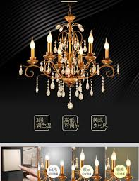 Großhandel Rustikale Beleuchtung Retro Kronleuchter Schwarz Eisen Esszimmer Culb Bar Kerze Kronleuchter Wohnzimmer Küche Kronleuchter Licht