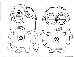 Minions Color Minions Coloring Pages King Bob Minion Coloring Pages