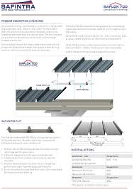 roofing safintra pty saflok 700 concealed fix roofing