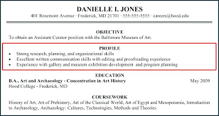 What Goes In The Profile Section Of A Resume Resume Profile Section