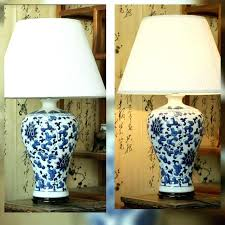 blue and white lampshade beautiful classic blue white porcelain table lamp shade ceramic solid new furniture