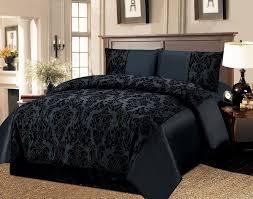 black damask duvet cover