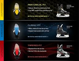 Bauer Skate Fit Chart Hockey Skates Fit And Common Questions Hockeyplayers